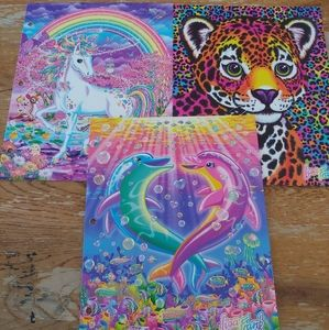 Lisa Frank folder lot dolphin cheetah unicorn